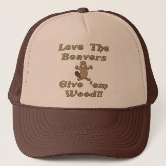 Love The Beavers Give Em Wood Trucker Hat