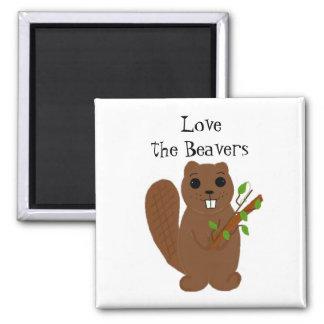Love the Beavers Square Magnet
