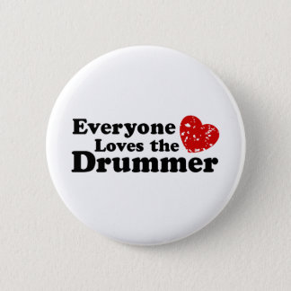 Love The Drummer 6 Cm Round Badge