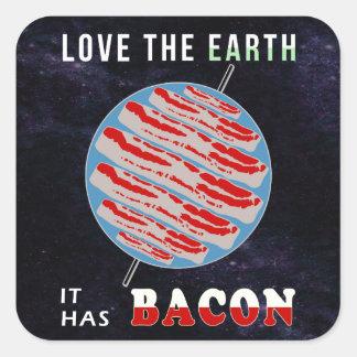 Love the Earth - It has Bacon Square Sticker