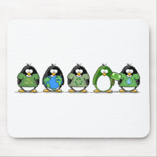 Love the earth penguins mouse mat