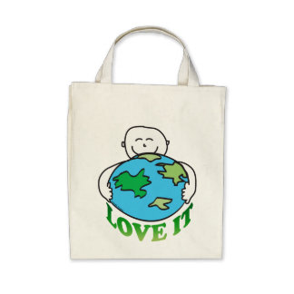 Love the Earth Tees and Gifts Canvas Bag