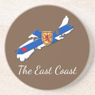 Love The East Coast  Heart N.S coaster brown