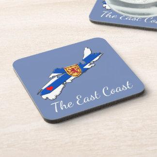 Love The East Coast  Heart N.S coaster set blue