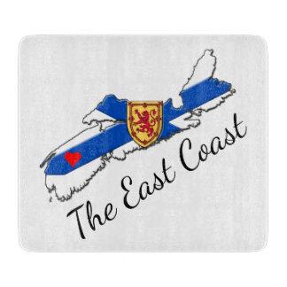 Love The East Coast Heart N.S. cutting board