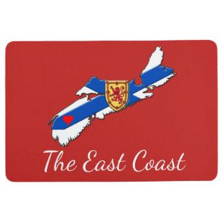 Love The East Coast  Heart N.S. floor mat