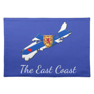 Love The East Coast Heart N.S. place mat blue