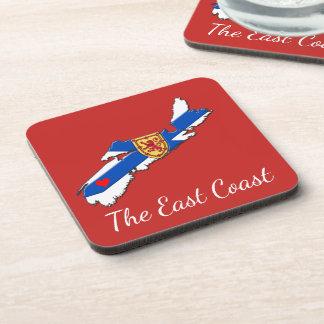 Love The East Coast  Heart N.S red coaster set
