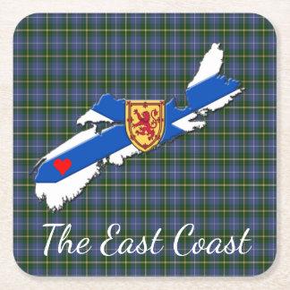 Love The East Coast  Heart N.S Tartan  coaster