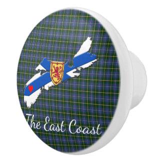 Love The East Coast  Heart N.S Tartan drawer pull
