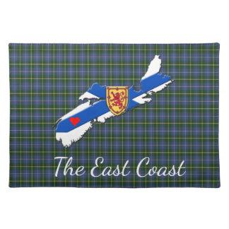 Love The East Coast Heart N.S.tartan place mat