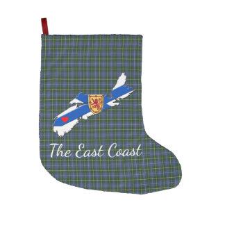 Love The East Coast Heart N.S.tartan stocking