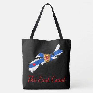 Love The East Coast Heart N.S.  tote bag