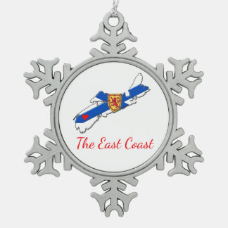 Love The East Coast Heart N.S  tree ornament blue