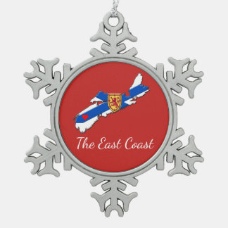 Love The East Coast Heart N.S  tree ornament red