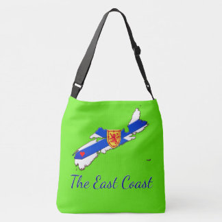 Love The East Coast  Nova Scotia Cross Bag green