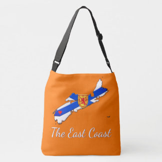 Love The East Coast  Nova Scotia Cross Bag orange
