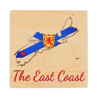 Love The East Coast Nova Scotia  wood coaster