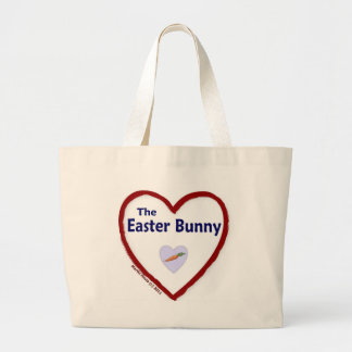 Love The Easter Bunny Jumbo Tote Bag