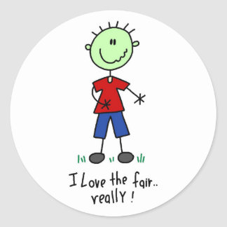 Love the Fair Tshirts and Gifts Round Sticker