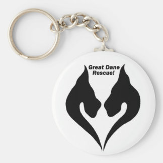 Love the Great Dane rescue! Basic Round Button Key Ring