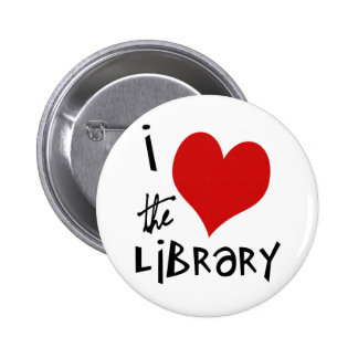 Love the Library 6 Cm Round Badge