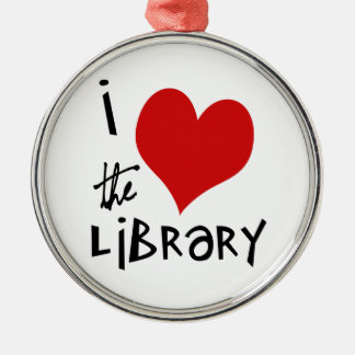Love the Library Silver-Colored Round Decoration