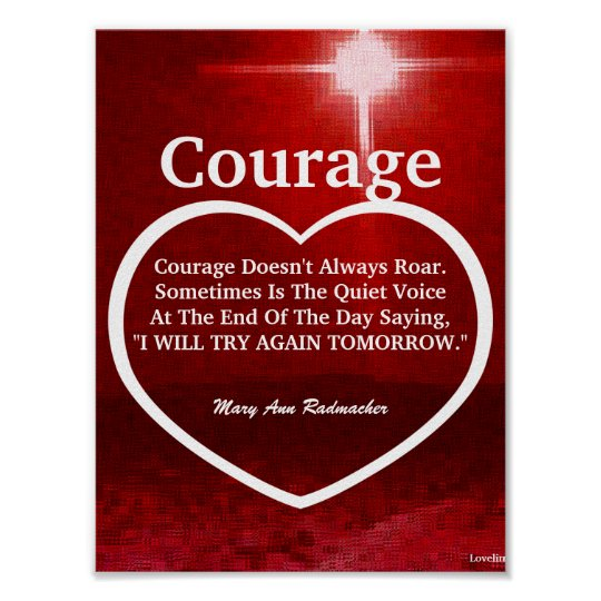 Love The Light Of Courage Quote-Customise Poster