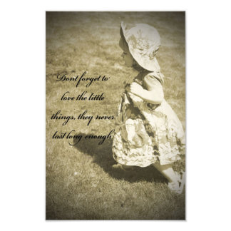Love the Little Things Art Photo