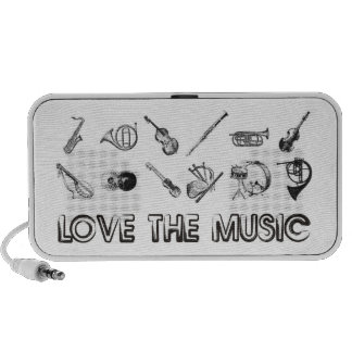 Love the music with these musical instruments mp3 speakers