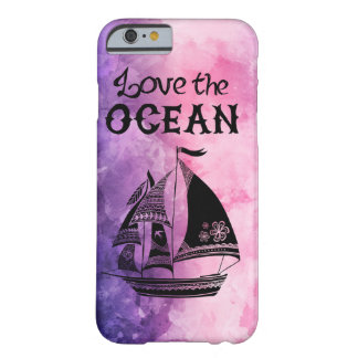 Love the ocean colorful ship Sailboat marries Barely There iPhone 6 Case