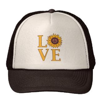 Love the Peaceful Sunflower Mesh Hats