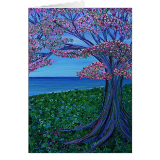 Love & the Pink Tree of Hearts Greeting Card