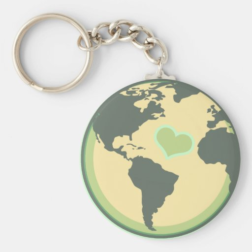 Love the Planet Earth Day Basic Round Button Key Ring