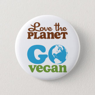 Love the Planet Go Vegan 6 Cm Round Badge