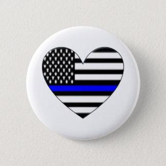 Love the police 6 cm round badge
