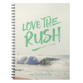 Love the Rush Dry Brush Typography Photo Template Notebooks