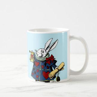 Love the White Rabbit Alice in Wonderland Basic White Mug