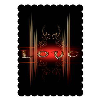 Love, the word 13 cm x 18 cm invitation card