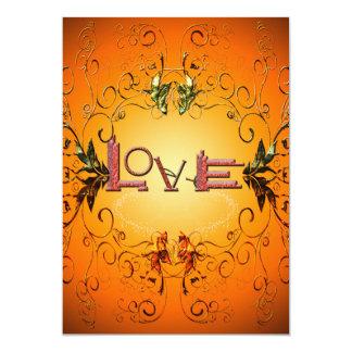 Love the word 13 cm x 18 cm invitation card