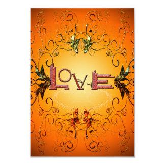 Love the word 9 cm x 13 cm invitation card