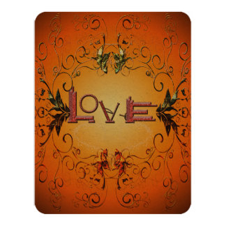 Love the word 11 cm x 14 cm invitation card
