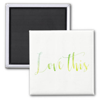 Love This Green Mint White Office Keep in Touch Magnet