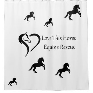 Love This Horse Shower Curtain