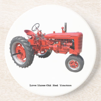 Love Those Old  Red  Tractors Coaster