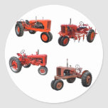 Love Those Old Red Tractors Round Sticker