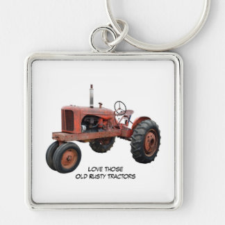 Love Those Old Rusty Tractors Key Ring