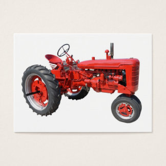 love those old tractors business card