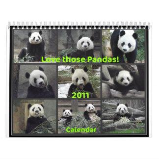Love Those Pandas! 2011 Calendars