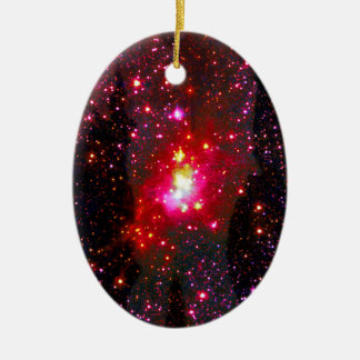 Love Through the Stars. Ceramic Oval Decoration